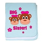I'm The BIG Sister! Monkey baby blanket
