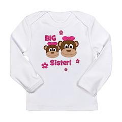I'm The BIG Sister! Monkey Long Sleeve Infant T-Sh