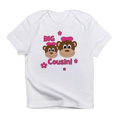 I'm The Big Cousin! Monkey Infant T-Shirt