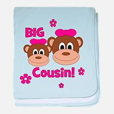 I'm The Big Cousin! Monkey baby blanket