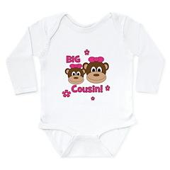 I'm The Big Cousin! Monkey Long Sleeve Infant Body