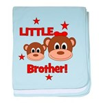 I'm The Little Brother - Monk baby blanket