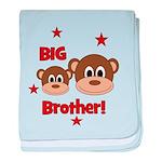 BIG Brother! Monkey baby blanket