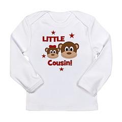 I'm The Little Cousin! Monkey Long Sleeve Infant T