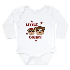 I'm The Little Cousin! Monkey Long Sleeve Infant B
