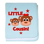 I'm The Little Cousin! Monkey baby blanket