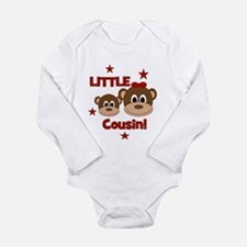 I'm The Little Cousin! Monkey Long Sleeve Infant B