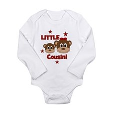 I'm The Little Cousin! Monkey Onesie Romper Suit