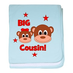 I'm The Big Cousin! Monkey baby blanket