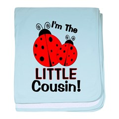 I'm The LITTLE Cousin! Ladybu baby blanket