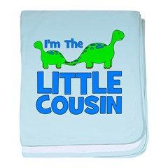 I'm The LITTLE Cousin! Dinosa baby blanket