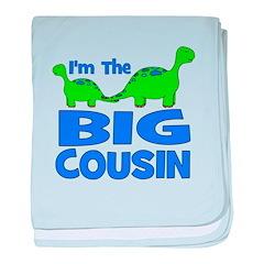 I'm The BIG Cousin! Dinosaur baby blanket
