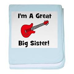 Great Big Sister (guitar) baby blanket