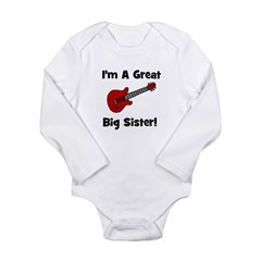 Great Big Sister (guitar) Long Sleeve Infant Bodys
