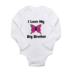 Love My Big Brother (butterfl Long Sleeve Infant B