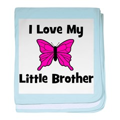 Love My Little Brother baby blanket