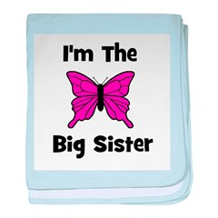 I'm The Big Sister (butterfly baby blanket