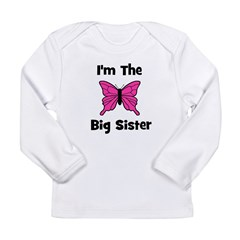 I'm The Big Sister (butterfly Long Sleeve Infant T