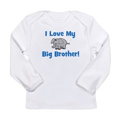 Love My Big Brother (elephant Long Sleeve Infant T
