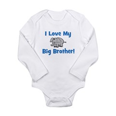 Love My Big Brother (elephant Long Sleeve Infant B