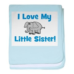 Love My Little Sister (elepha baby blanket