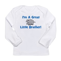 Great Little Brother (elephan Long Sleeve Infant T