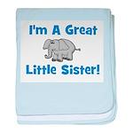 Great Little Sister (elephant baby blanket