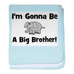 Gonna Be Big Brother (elephan baby blanket