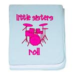 Little Sisters Roll! Drum baby blanket