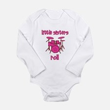 Little Sisters Roll! Drum Long Sleeve Infant Bodys
