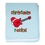 Christmas Rocks! Guitar Santa baby blanket
