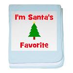 I'm Santa's Favorite w/ Tree baby blanket