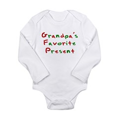 Grandpa's Favorite Present Long Sleeve Infant Body