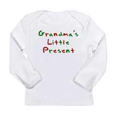Grandma's Little Present Long Sleeve Infant T-Shir