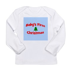 Baby's First Christmas Orname Long Sleeve Infant T