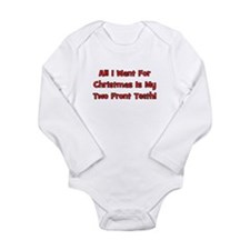 All I Want For Christmas Onesie Romper Suit
