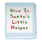 Nico Is Santa's Little Helper baby blanket