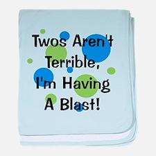 Twos Aren't Terrible baby blanket