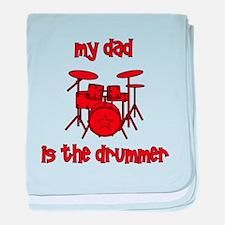 My Dad is the Drummer (drums) baby blanket