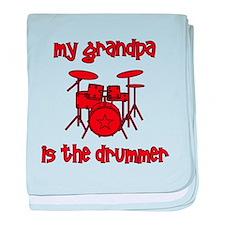 My Grandpa is the Drummer baby blanket