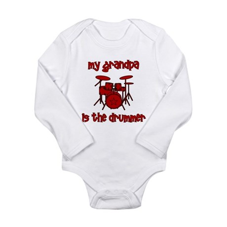My Grandpa is the Drummer Long Sleeve Infant Bodys