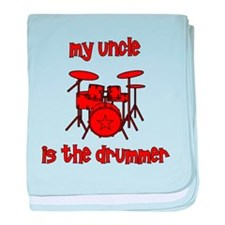 My Uncle is the Drummer baby blanket