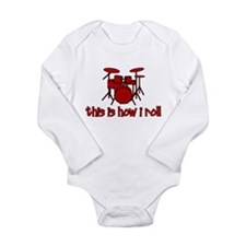 This Is How I Roll DRUMS Long Sleeve Infant Bodysu