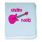 Uncles Rock! Pink Guitar baby blanket
