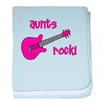 Aunts Rock! Pink Guitar baby blanket