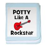 Potty Like A Rockstar with Gu baby blanket