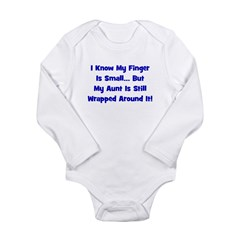 Aunt Wrapped Around Finger - Long Sleeve Infant Bo