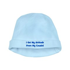 Attitude From Cousin - Blue baby hat