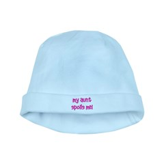 My Aunt Spoils Me! pink baby hat