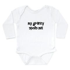 My Granny Spoils Me! black Long Sleeve Infant Body
